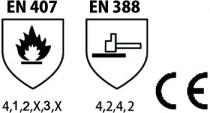 GANT SOUDEUR BLEU 35CM CATEGORIE 2