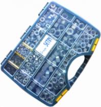 Ecrou : Coffret 765 écrous HU(8) acier zingué blanc - DIN 934
