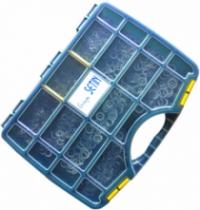 Rondelle : Coffret 970 rondelles éventail ZI blanc - DIN 6798