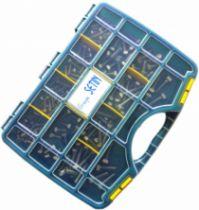 Visserie métrique inox : Coffret 170 vis métaux tête héxagonale inox A2 - DIN 933