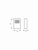 Ordonnancement : Boîte à clé murale à combinaison
