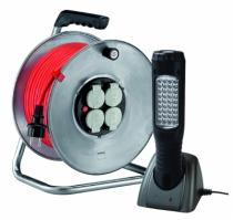 Enrouleur - prolongateur : Lot enrouleur Silver 25 + lampe portable
