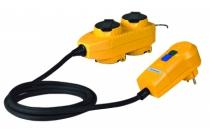 Enrouleur - prolongateur : Adaptateur 4 prises avec protection différentielle - câble HO7RNF