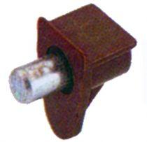 Taquet : Tige acier ø 5 mm et corps plastique