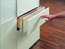 Coulisse invisible pour tiroir bois : Coulisse invisible Push/Smove Unica
