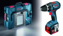 Perceuse-visseuse sans fil : Kit perceuse visseuse GSR 14 V-LI avec lampe GLI Portal LED