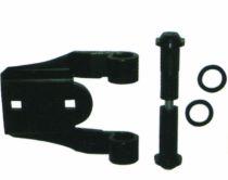 Ferrure de volets en aluminium : Axe polyamide - renfort aluminium