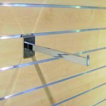 Crémaillère et console - Bohnacker Fuego : Console tablette verre chromée