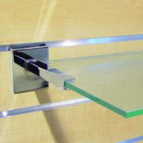 Crémaillère et console - Bohnacker Fuego : Console pour tablette verre chromé