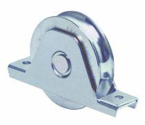Ferrure pour portail coulissant Mantion : Galet avec platine interne - acier zingué