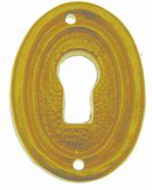 Garniture de style : Laiton poli verni - entrée pour tiroir ovale avec liseré