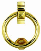 Bouton et marteau de porte laiton : Heurtoir anneau 110 x 133 mm