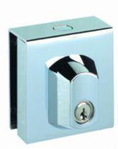 Serrure de porte verre Métalux : Sans encoche pour glace de 8 à 10 mm d'épaisseur