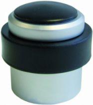 Butoir de porte : Pour fixation au sol - alu anodisé et caoutchouc cylindrique
