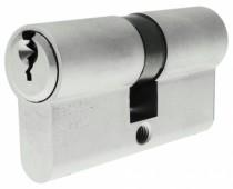 Cylindre européen 5 goupilles : Cylindre double laiton nickelé