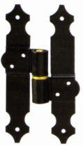 Ferrure de volets en aluminium : H alu trou carré + axe avec circlips anti-vent