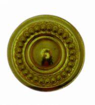 Garniture de style : Laiton poli verni - bouton perles