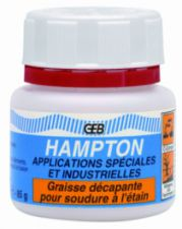 Consommable de soudure à l'étain et flamme : Pâte Hampton