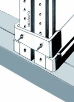 Coulissant porte intérieure bois : Clip fixation invisible pour Systemfix ou Inclinofix
