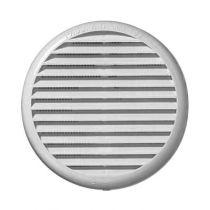 Ventilation : Grille ronde plastique renforcée U.V. à clipser