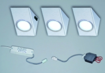 Luminaire led : Kit 3 spots rectangles Sun - blanc neutre - 350 mA