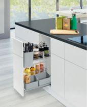 Agencement de cuisine : 2 niveaux de rangement - Kesseböhmer