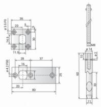 Serrure pour menuiserie métallique : Accessoire pour 2 et 3 points Métalux