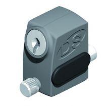 Accessoire pour baie coulissante : Arrêt de vantail à clé pour fixation en applique