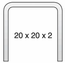 RAIL DE GUIDAGE 20X20X2 6M SMALL ET