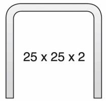 RAIL DE GUIDAGE 25X25X2 6M MEDIUM
