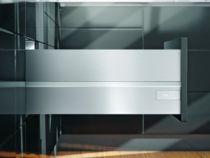 Tiroir complet monté standard Blum - intivo - TIP-ON : intivo TIP-ON inox hauteur D - BOXCAP