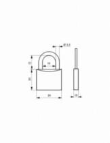 Cadenas à clés : Laiton - série type 1