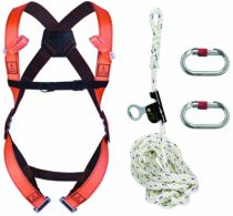 Harnais de sécurité Delta Plus : Kit anti-chute vertical à corde 10 m