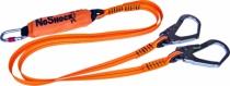 Harnais de sécurité Delta Plus : Longe fourche avec absorbeur