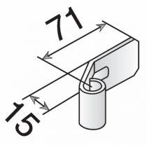 Ferrure de volets en aluminium : Noeud alu réglable pour trous ronds à riveter