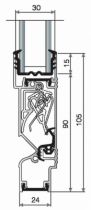 GRILLE THM90/24 BAS 6M BLC EUR 9010