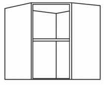 Caisson de cuisine : Caisson angle haut - profondeur 330 mm