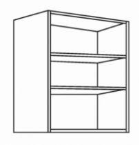 Caisson de cuisine : Caisson grande hauteur - profondeur 330 mm