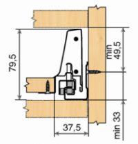 Kit double paroi Blum - antaro : antaro hauteur N : 82,5 mm - blanc