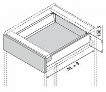 Kit double paroi Blum - antaro : antaro hauteur K : 130,5 mm - gris