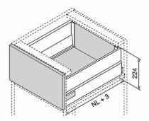 Kit tiroir double paroi Blum - intivo - TIP-ON : Kit intivo TIP-ON BOXCAP hauteur D : 224 mm - noir