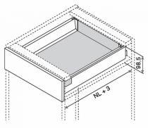 Kit tiroir double paroi Blum - intivo - TIP-ON : Kit intivo TIP-ON hauteur M : 98,5 mm - inox