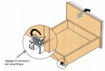 Coulisse invisible pour tiroir bois : Sortie partielle TANDEM 550 H - BLUMOTION intégré