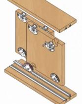 Coulissant meuble bois : Série 310 / 23 - 43 kg