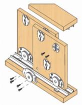 Coulissant meuble bois : Série 320 / 25 - 40 - 55 kg
