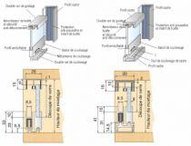 Coulissant meuble pour porte verre : Slide line 97 / 25 à 30 kg