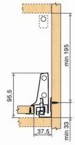 Tiroir complet monté standard Blum - antaro - TIP-ON : antaro TIP-ON gris hauteur D