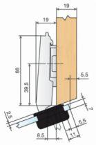 Rotation : Ouverture 94 ° - angle + 20°