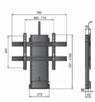 Support pour téléviseur LCD \ plasma : Lève TV électrique