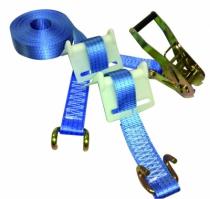 Manutention : Set amarrage avec 2 cornières rigides - polyester 4,0 tonnes